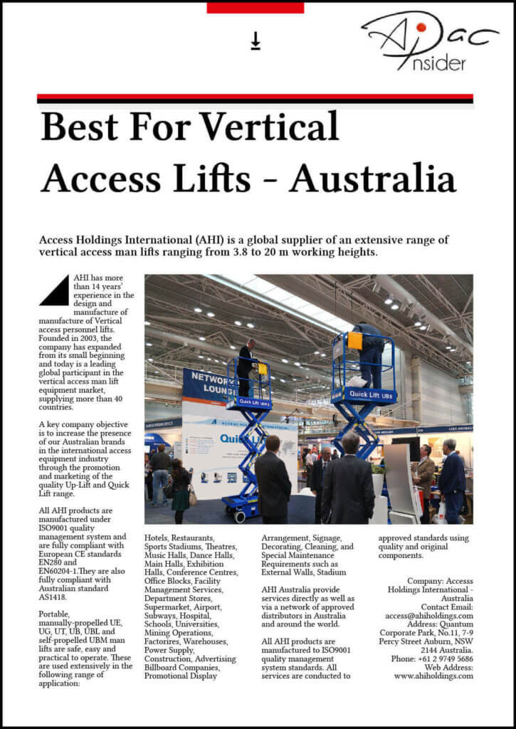 Best Vertical Access in Australia